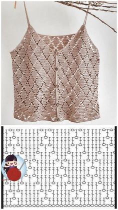 Crochet Baby Sweater Pattern, Gilet Crochet, Crochet Blouse, Crochet Shawl, Easy Crochet, Crochet Stitches, Knit Crochet, Crochet Patterns, Dress Patterns