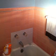 How To Update That Old Bath Tile Without Replacing It White Tile - Update bathroom tile without replacing