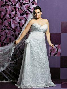 Plus Size: Vestidos de Noivas para Gordinhas 2013