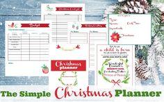 simple christmas planner banner