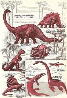 Vintage Dinosaurs by Anatotitan, via Flickr