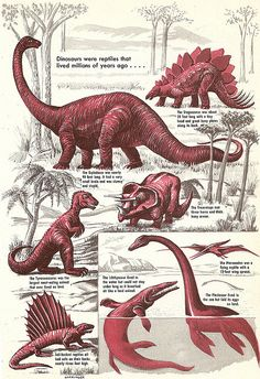 Vintage Dinosaurs by Anatotitan, via Flickr