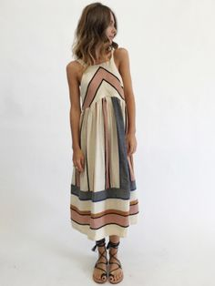 Free People Bloom Dress - Neutral Combo