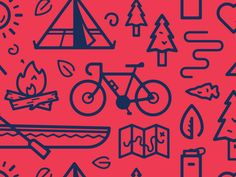 Icon patterns are an awesome design element that can be used in so many different ways. Here is collection of 30 striking icon pattern designs for your inspiration. Map Symbols, Tree Map, Map Icons, Graphic Design Posters, Typography Poster, Design Reference, Cool Patterns, Digital Illustration, Vector Illustrations