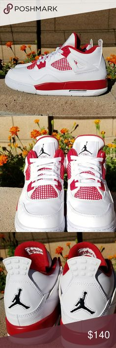 Air Jordan Retro 4 Alternate 89s Air Jordan Retro 4 Alternate 89s (#RARE) White/Black/Gym Red size 5y In original box with receipt from Champs and bonus Jumpman sticker! Buy for yourself or give as a gift he or she is sure to LOVE❤ Air Jordan Shoes Sneakers