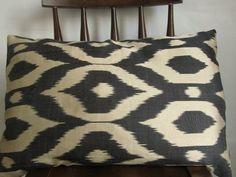 Silk Ikat pillowDecorative pillow coverthrow pillow by asiapillow, $50.00