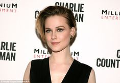 Flawless: She wore her short blonde hair flicked to one side and opted for a smokey cat-eye and rose-coloured lips