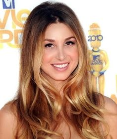 Whitney Port brown blonde ombre hair