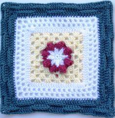 "MoCrochet: Basket of Berries - 12"" square"