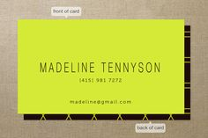 Neon Business Cards by chocomocacino   Minted
