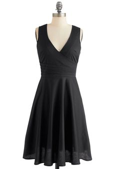 Beguiling Beauty Dress in Black. When you sport this dramatic dress of black satin to your next soire, all eyes are sure to be on your fashionable form! #black #modcloth