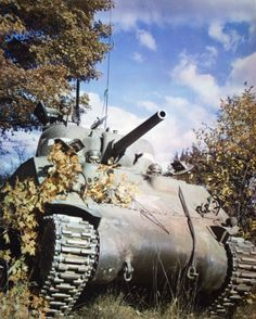 A Sherman tank of 10th Tank Battalion, 5th Armored Division  in 1943.
