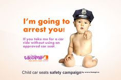 Child car seats safety campaign.