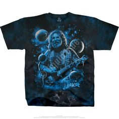 Grateful Dead Tie Dye T Shirt - View Of Heaven -Jerry Garcia - Standing On The Moon – Blue Mountain Dyes - Free Shipping over $10