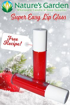 Free Super Easy Lip Gloss Recipe by Natures Garden.