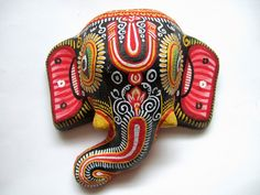 Hand-painted, Paper Mache Elephant by Alaina B., via Flickr