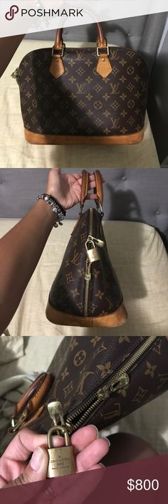 Authentic Louis Vuitton handbag Message if you would like more pictures, it's and old vintage hang bag bought in 1998. Louis Vuitton Bags