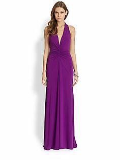 Nicole Miller Jersey Halter Gown #summer #wedding #dress