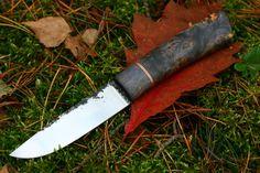 Stabilized birch EDC knife