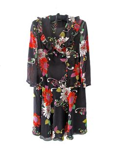 A chiffon floral dress, offered by Dispensary Vintage
