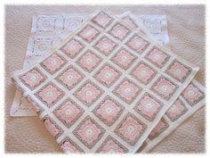 @ Prinsessajuttu: Lovely versions of the Willow Square pattern by Jan Eaton Crochet Quilt, Crochet Blocks, Crochet Granny, Crochet Baby, Knit Crochet, Crochet Afghans, Crochet Blankets, Baby Blankets, Willow Pattern