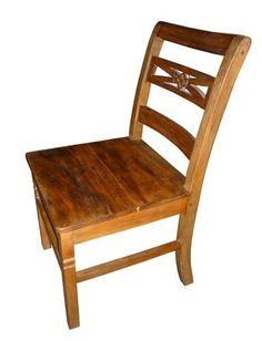 Cadeira Rústica Irlanda em Madeira de Demolição - Cód 1086 - Bancos e Banquetas - Madeira de Demolição - Barrocarte