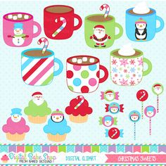 Christmas Sweets Clipart - adorable clipart for invitations, card making, scrapbooking and more.
