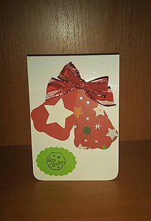 Papiernictvo - vianočný pozdrav - zvončeky - 6060537_