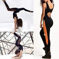 Description: Yoga jumpsut pants, Yoga exercise bra, women's colorful work out pants. Material:Polyes