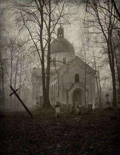 Abandoned church and cemetary.Georgis ,USA