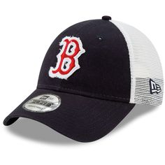 3c1fb461a2da3 Men s Boston Red Sox New Era Navy White Team Truckered 9FORTY Adjustable Hat