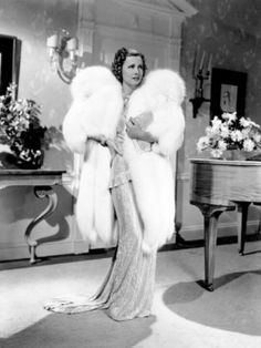 Irene Dunne 'The Awful Truth' 1937 Love the fabulous furs in old movies !!