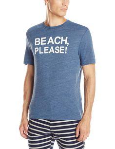 Original Penguin Men's The Beach Please Tee Rayon Jersey Heritage Slim Fit, Dark Denim, Medium