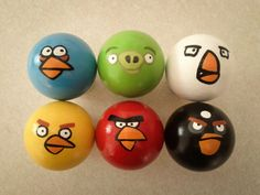 Angry Birds Ping Pong Balls by cordeli25 on Etsy, $22.00