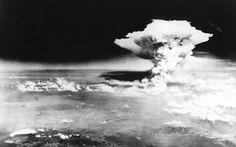 Imagem aérea da explosão da bomba nuclear na cidade de Hiroshima, em 6 de agosto…