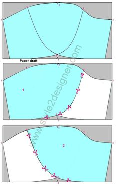 How do make Petal-Tulip Sleeve Drafting from Basic Sleeve Pattern? Here is step by step explanation with clear drafting images and measurements. Designer Blouse Patterns, Dress Sewing Patterns, Sewing Patterns Free, Sewing Tutorials, Sewing Projects, Sewing Ideas, Petal Sleeve, Tulip Sleeve, Clothing Store Displays