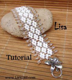 Lisa Superduo Beadwork Bracelet PDF Tutorial by Lirigal on Etsy, $7.00