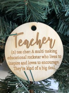These make a great gift & can be personalized on the back. Personalized Wood Signs, Personalized Ornaments, Teacher Ornaments, Wood Tray, Business Signs, Letter Wall, Name Signs, Laser Engraving, Cake Toppers