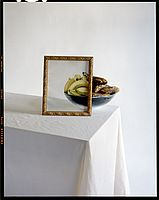 Bananas in Bowl with Painting on - John Chervinsky, from Studio Physics series Floral Photography, Life Photography, Mixed Media Artwork, Photo Series, Art Studies, Wall Spaces, Fine Art Gallery, Photo Manipulation, Floating Nightstand
