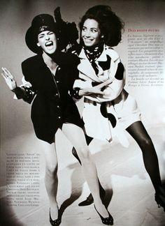 1990 Photographer: Arthur Elgort  Models: Christy Turlington and Linda Evangelista