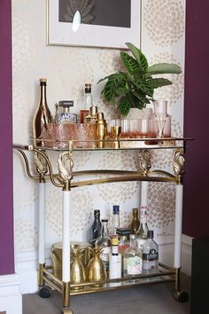 """Visit our web site for additional information on """"gold bar cart decor"""". It is actually an excellent location to get more information. Decor, Bar Furniture, Outside Bars, Metal Tree, Cart, Bar Cart Decor, Bar Stools, Bar, Metal Tree Wall Art"""