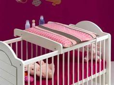 table langer sur lit bb blanc dimensions longueur 84 cm largeur - Lit Avec Table A Langer Integree