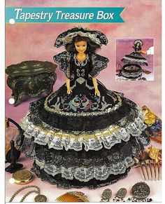 Tapestry Treasure Box Barbie Plastic Canvas by grammysyarngarden, $4.00