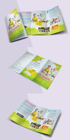 Brochure Sample, Brochure Template, Brochure Ideas, Summer School, School Fun, School Advertising, School Brochure, Brochure Design Inspiration, Cool Business Cards