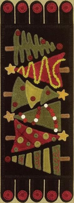Patterns and Kits - Wool Applique Patterns - The Merry Hooker Woolens.Rug Hooking Patterns, Beautiful Wool Fabric, Townsend Cutters, Supplies and Kits. This could be done in cotton, changing the penny rug part