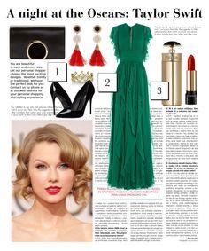 """A night at the Oscars: Taylor Swift"" by isabelhalen on Polyvore featuring moda, Erica Courtney, Dolce&Gabbana, Lancôme, Chloé, Prada, Elie Saab, women's clothing, women's fashion e women"