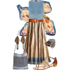 """Long skirt"" by gangdise on Polyvore"
