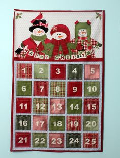 Fabric Advent Calendar Panel from Northcott, instructions included on panel. Tutorial by CraftyGemini :)