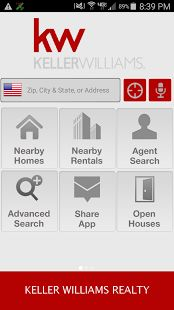 Keller Williams Real Estate - Search for property where you are - google app
