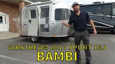 Walk Through 2017 Airstream Sport Bambi Small Travel Trailer Best Travel Trailers, Small Camper Trailers, Airstream Travel Trailers, Tiny Camper, Small Trailer, Rv Travel, Rv Campers, Small Campers, Airstream Bambi For Sale
